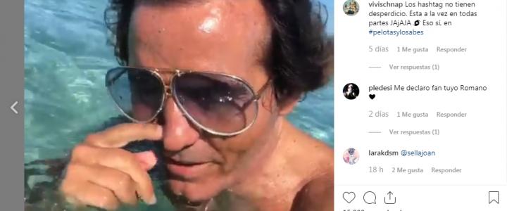 Romano Aspas, en «pelotas y lo sabes» en Formentera